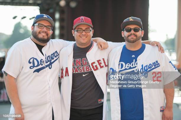Edgar Moran of Victorville Tim Gogley of Garden Grove and Ryan Dunaway of Hysperia from left don't let baseball get in between their almost 15yearold...