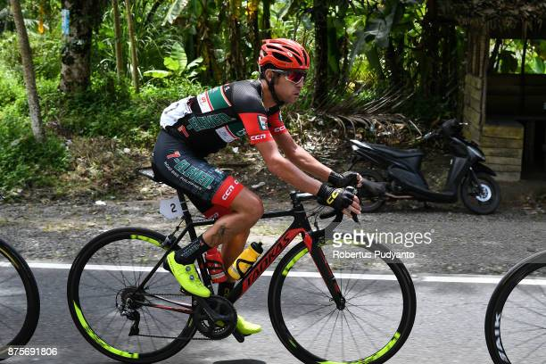 Edgar Nieto Nohales of Spain and 7 Eleven Roadbike Philippines competes during stage 1 of the Tour de Singkarak 2017 Tanah DatarPadang 1093 km on...