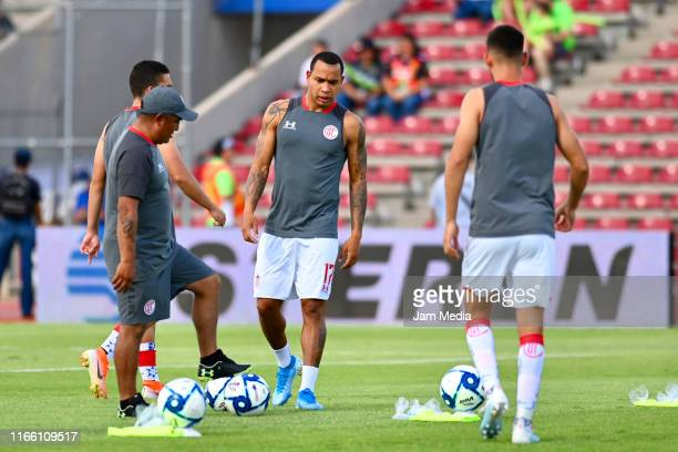 Edgar Pardo of Toluca warms up prior to the 3rd round match between FC Juarez and Toluca as part of the Torneo Apertura 2019 Liga MX at Olimpico...