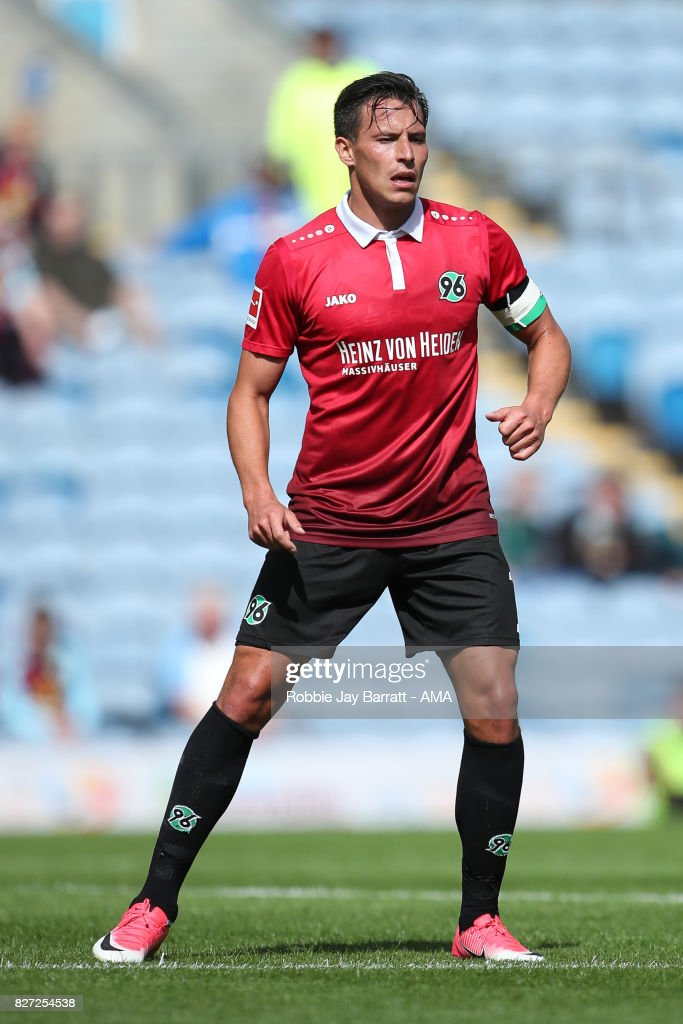Edgar Prib of Hannover 96 during the Pre-Season Friendly between Burnley and Hannover 96 at Turf Moor on August 5, 2017 in Burnley, England.