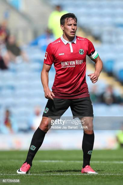 Edgar Prib of Hannover 96 during the PreSeason Friendly between Burnley and Hannover 96 at Turf Moor on August 5 2017 in Burnley England