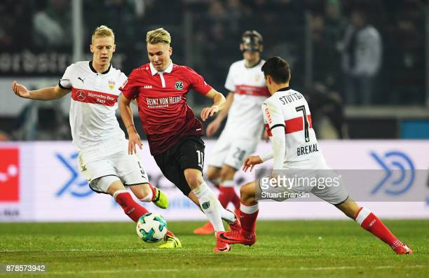 Edgar Prib of Hannover 96 in action during the Bundesliga match between Hannover 96 and VfB Stuttgart at HDIArena on November 24 2017 in Hanover...