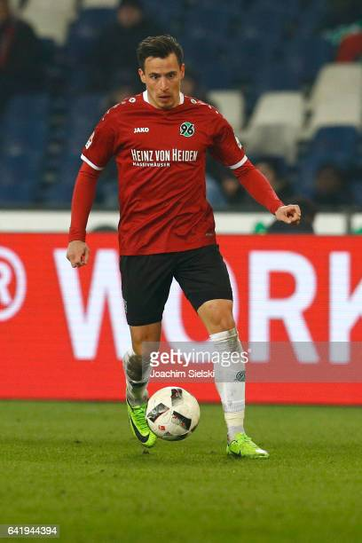 Edgar Prib of Hannover during the Second Bundesliga match between Hannover 96 and VfL Bochum 1848 at HDIArena on February 13 2017 in Hanover Germany