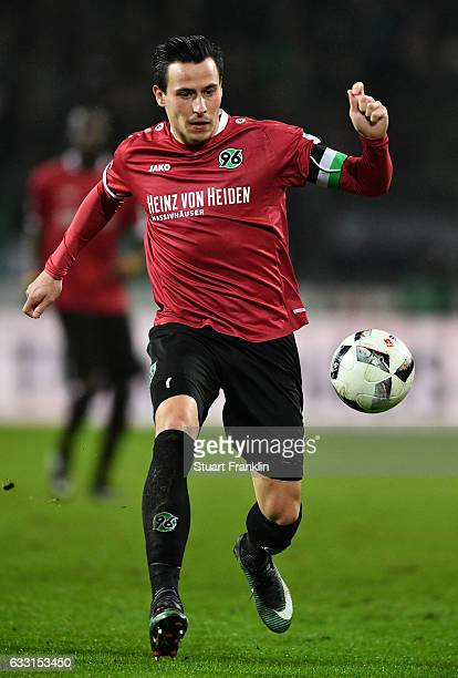 Edgar Prib of Hannover iin action during the Second Bundesliga match between Hannover 96 and 1 FC Kaiserslautern at HDIArena on January 30 2017 in...