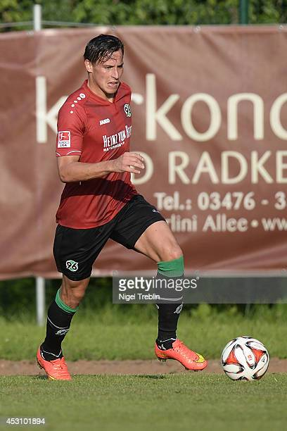Edgar Prib of Hanover controls the ball at Hannover 96 training camp on August 2 2014 in Mureck Austria