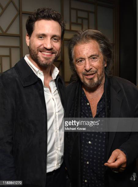 Edgar Ramirez and Al Pacino attend 'The Irishman' LA AMPAS Hosted Tastemaker at The London Hotel on October 27 2019 in West Hollywood California