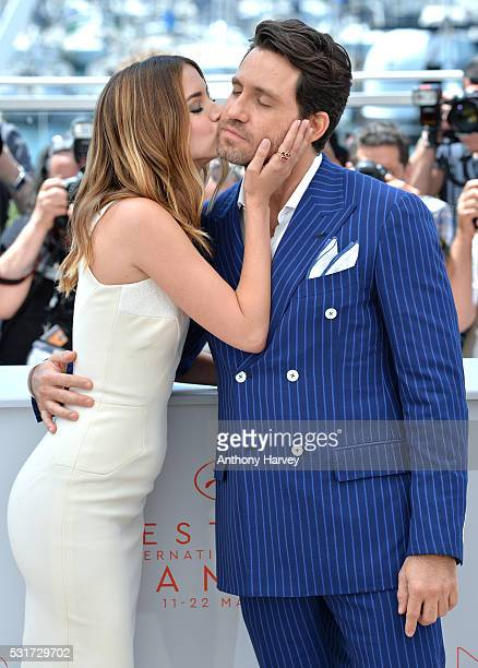 Edgar Ramirez and Ana de Armas attend the 'Hands Of Stone' Photocall at the annual 69th Cannes Film Festival at Palais des Festivals on May 16 2016...