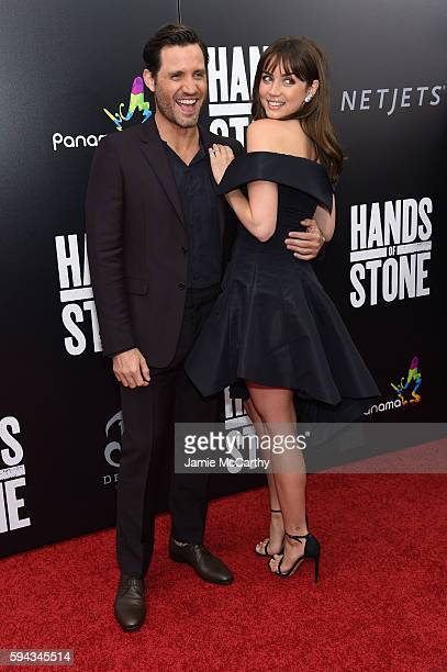 Edgar Ramirez and Ana de Armas attend the 'Hands Of Stone' US premiere at SVA Theater on August 22 2016 in New York City