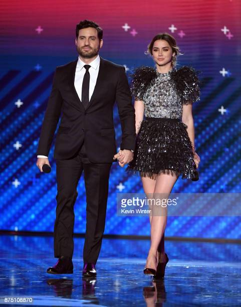 Edgar Ramirez and Ana de Armas walk onstage at the 18th Annual Latin Grammy Awards at MGM Grand Garden Arena on November 16 2017 in Las Vegas Nevada