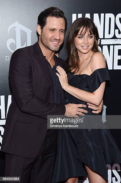 Edgar Ramirez and Ana de Armasand attend the 'Hands Of Stone' US premiere at SVA Theater on August 22 2016 in New York City