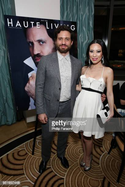 Edgar Ramirez and Christine Chiu attend the Hublot Private Dinner with Edgar Ramirez at Waldorf Astoria Beverly Hills on March 13 2018 in Beverly...