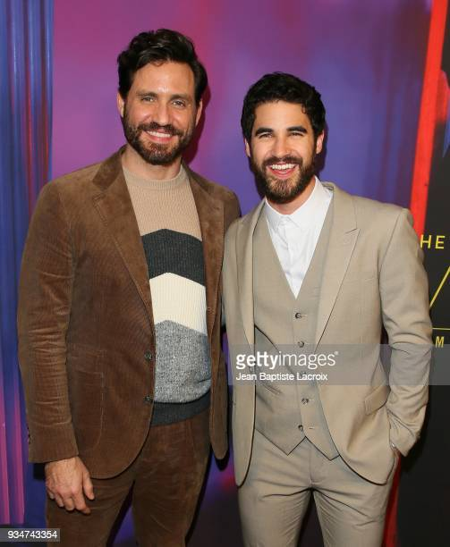 Edgar Ramirez and Darren Criss attend the for your consideration event for FX's 'The Assassination Of Gianni Versace American Crime Story' on March...
