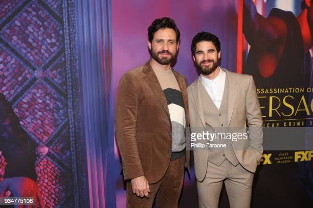Edgar Ramirez and Darren Criss attend the For Your Consideration Event for FX's 'The Assassination of Gianni Versace American Crime Story' at DGA...