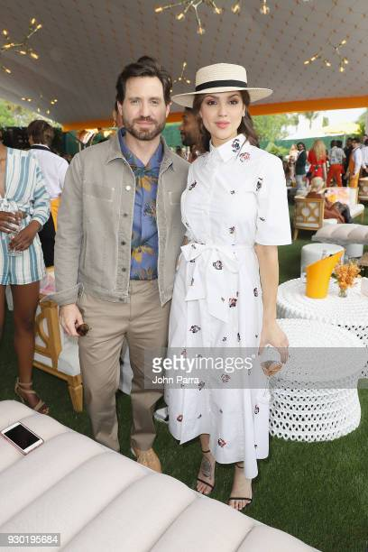 Edgar Ramirez and Eiza Gonzalez attend the 4th Annual Veuve Clicquot Carnaval at Museum Park on March 10 2018 in Miami Florida
