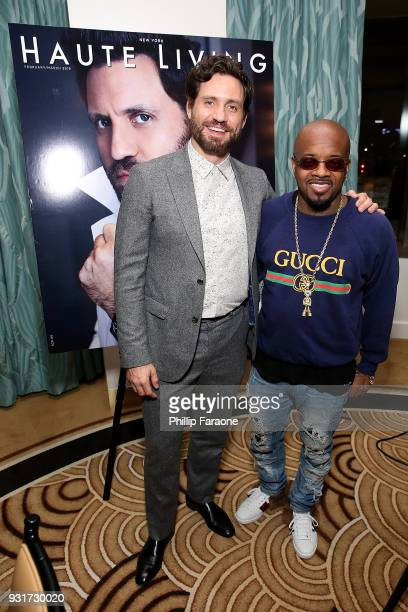 Edgar Ramirez and Jermaine Dupri attend the Hublot Private Dinner with Edgar Ramirez at Waldorf Astoria Beverly Hills on March 13 2018 in Beverly...