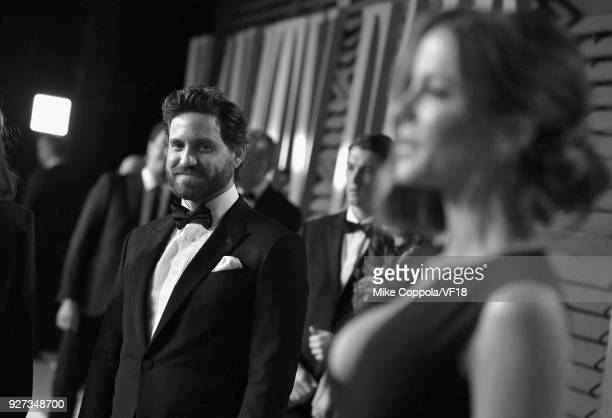 Edgar Ramirez and Kate Beckinsale attend the 2018 Vanity Fair Oscar Party hosted by Radhika Jones at Wallis Annenberg Center for the Performing Arts...