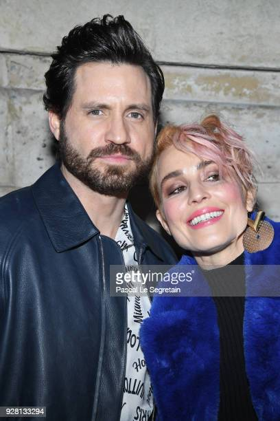 Edgar Ramirez and Noomie Rapace attend the Louis Vuitton show as part of the Paris Fashion Week Womenswear Fall/Winter 2018/2019 on March 6 2018 in...