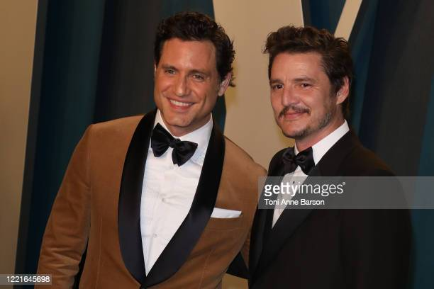 Edgar Ramirez and Pedro Pascal attend the 2020 Vanity Fair Oscar Party at Wallis Annenberg Center for the Performing Arts on February 09 2020 in...