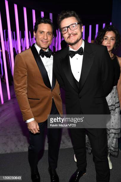 Edgar Ramirez and Pedro Pascal attend the 2020 Vanity Fair Oscar Party hosted by Radhika Jones at Wallis Annenberg Center for the Performing Arts on...