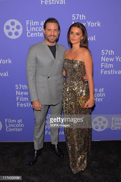 Edgar Ramirez and Penelope Cruz attend the 57th New York Film Festival Wasp Network arrivals at Alice Tully Hall Lincoln Center in New York City