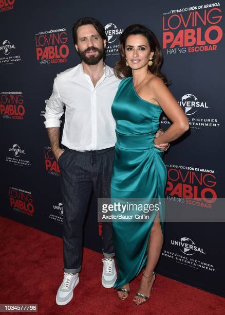 Edgar Ramirez and Penelope Cruz attend Universal Pictures Home Entertainment Content Group's 'Loving Pablo' special screening at The London West...