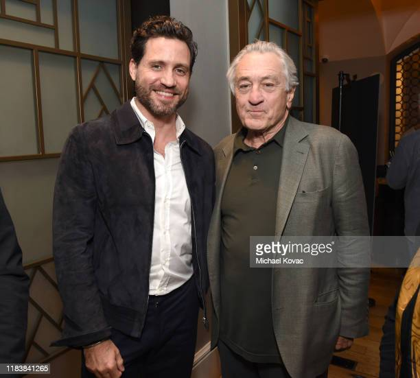 Edgar Ramirez and Robert De Niro attend 'The Irishman' LA AMPAS Hosted Tastemaker at The London Hotel on October 27 2019 in West Hollywood California