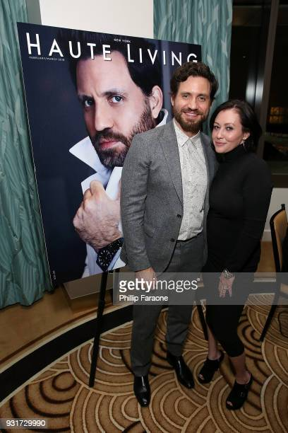 Edgar Ramirez and Shannen Doherty attend the Hublot Private Dinner with Edgar Ramirez at Waldorf Astoria Beverly Hills on March 13 2018 in Beverly...