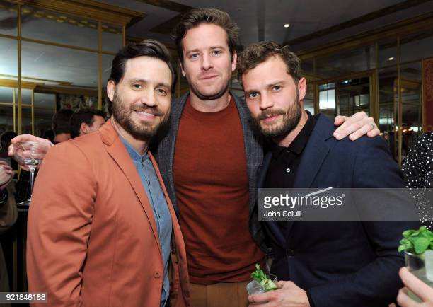 Edgar Ramirez Armie Hammer and Jamie Dornan attend GQ and Oliver Peoples Celebrate Timothee Chalamet March Cover Dinner at Nomad Los Angeles on...