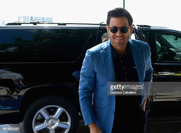 Edgar Ramirez arrives to the Key to the City Event on August 18 2016 in Miami Florida