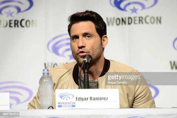 Edgar Ramirez attends the 'Deliver Us From Evil' panel at WonderCon Anaheim 2014 Day 2 at Anaheim Convention Center on April 19 2014 in Anaheim...