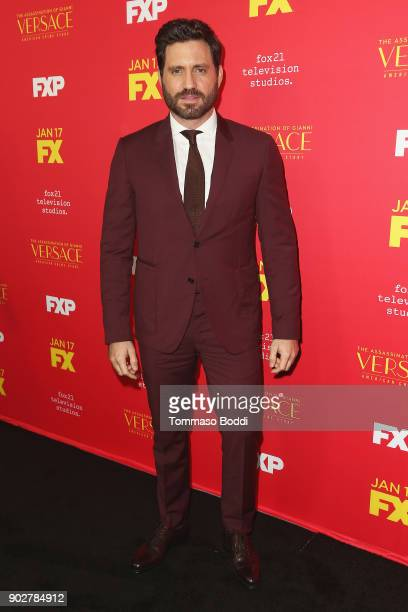 Edgar Ramirez attends the Premiere Of FX's 'The Assassination Of Gianni Versace American Crime Story' at ArcLight Hollywood on January 8 2018 in...