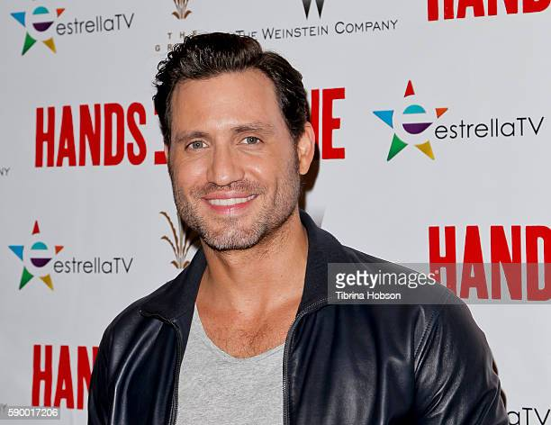 Edgar Ramirez attends the screening of 'Hands of Stone' at Pacific Theatres at The Grove on August 15 2016 in Los Angeles California