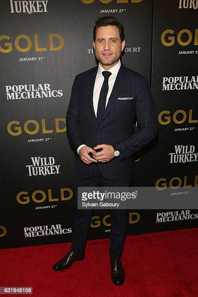 Edgar Ramirez attends TWCDimension with Popular Mechanics The Palm Court Wild Turkey Bourbon Host the Premiere of Gold at AMC Loews Lincoln Square on...