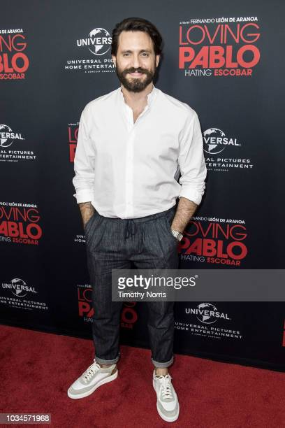 """Edgar Ramirez attends Universal Pictures Home Entertainment Content Group's """"Loving Pablo"""" special screening at The London West Hollywood on..."""