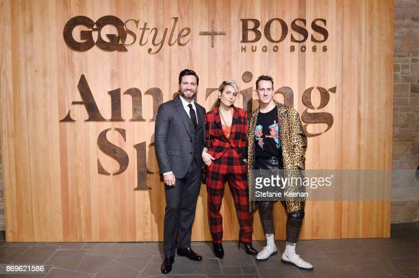 Edgar Ramirez Noomi Rapace and Jeremy Scott attend GQ Style Hugo Boss celebrate Amazing Spaces with Edgar Ramirez at John Lautner's Harvey House on...