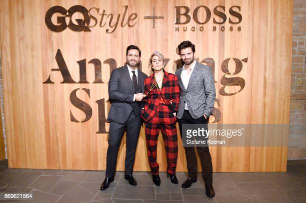Edgar Ramirez Noomi Rapace and Sebastian Stan attend GQ Style Hugo Boss celebrate Amazing Spaces with Edgar Ramirez at John Lautner's Harvey House on...