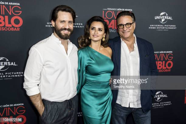 """Edgar Ramirez, Penelope Cruz and Andy Garcia attend Universal Pictures Home Entertainment Content Group's """"Loving Pablo"""" special screening at The..."""