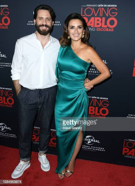 Edgar Ramirez Penelope Cruz arrives at the Universal Pictures Home Entertainment Content Group's Loving Pablo Special Screening at The London West...