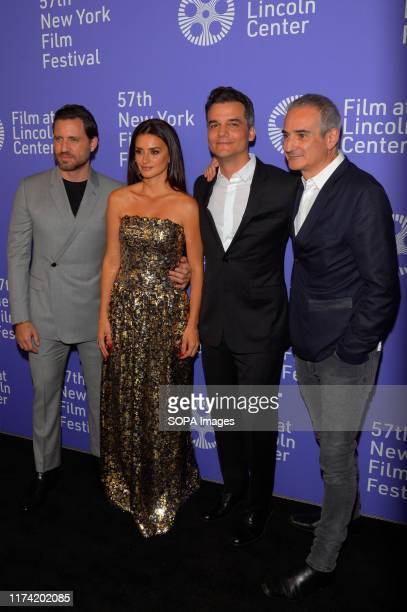 Edgar Ramirez Penelope Cruz Wagner Moura and Oliverier Assayas attend the 57th New York Film Festival Wasp Network arrivals at Alice Tully Hall...