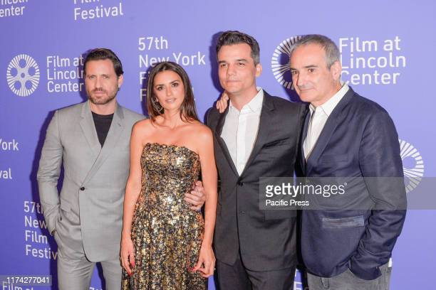 Edgar Ramirez Penelope Cruz Wagner Moura and Oliverier Assayas attend Wasp Network premiere during 57th New York Film Festival at Lincoln Center...