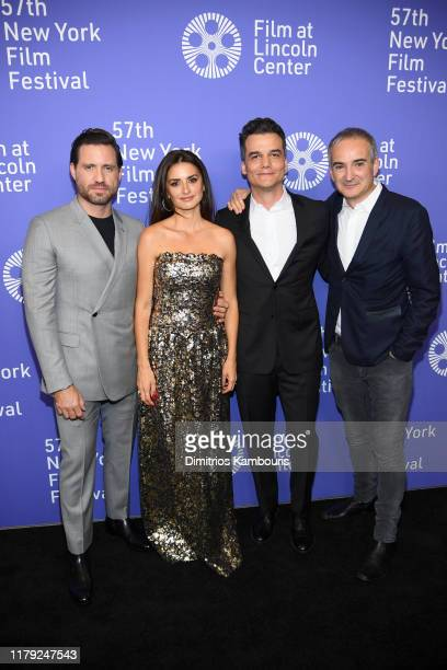 Edgar Ramirez Penelope Cruz Wagner Moura and Olivier Assayas attends the 57th New York Film Festival Wasp Network arrivals at Alice Tully Hall...