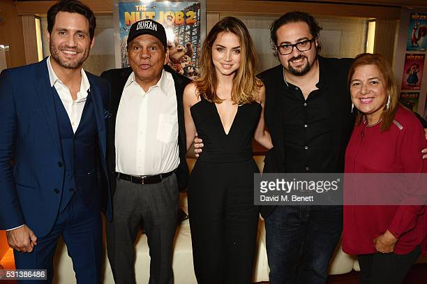Edgar Ramirez Roberto Duran Ana de Armas director Jonathan Jakubowicz and Felicidad Duran Iglesias attend The Weinstein Company's HANDS OF STONE...