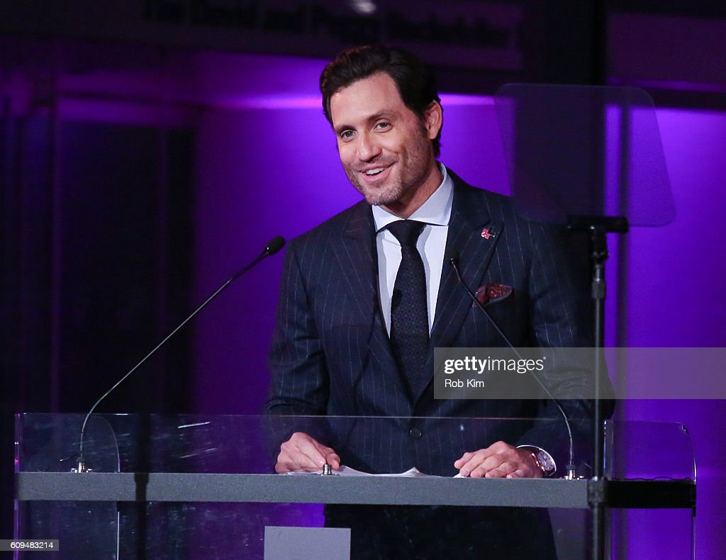 Edgar Ramirez speaks at HeForShe 2nd Anniversary Reception at Museum of Modern Art on September 20, 2016 in New York City.