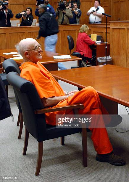 Edgar Ray Killen stands in a court room where he pleaded not guilty to three counts of murder in the 1964 slayings of three civil rights workers at...