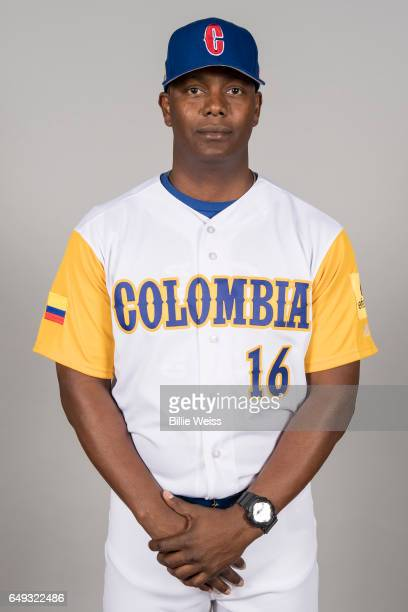 Edgar Renteria of Team Colombia poses for a headshot for Pool C of the 2017 World Baseball Classic on Tuesday March 7 2017 at CenturyLink Sports...