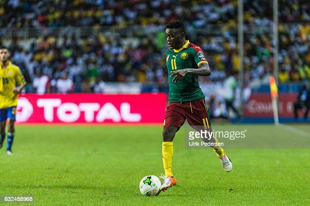 Edgar Salli of Cameroon during the African Nations Cup match between Cameroon and Gabon at Stade de L'Amitie on January 22, 2017 in Libreville, Gabon.