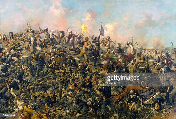 Edgar Samuel Paxson Custer's Last Stand oil on canvas 1791 × 2692 cm Buffalo Bill Historical Center Cody Wyoming