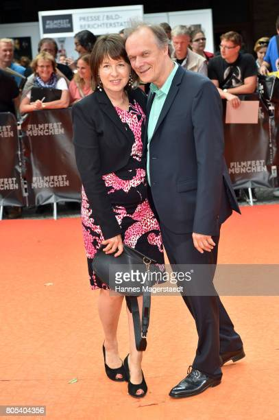 Edgar Selge and his wife Franziska Walser arrive at the premiere of 'Ihre Beste Stunde' as closing movie of Munich Film Festival 2017 at Gasteig on...