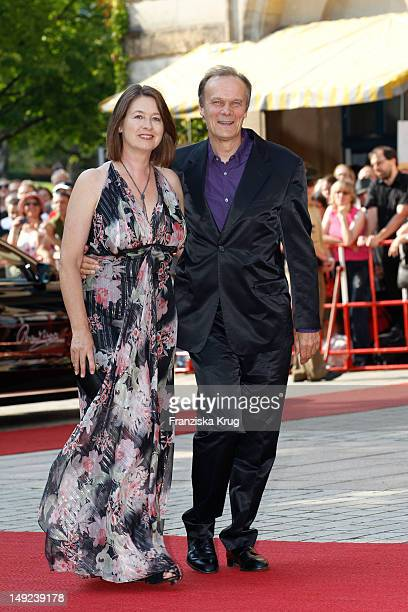 Edgar Selge and his wife Franziska Walser arrive for the Bayreuth festival 2012 premiere on July 25 2012 in Bayreuth Germany