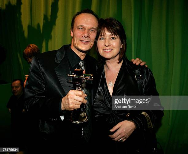 Edgar Selge and his wife Franziska Walser attend the after show party at the 42nd Goldene Kamera Award at the UllsteinArena on February 1 2007 in...